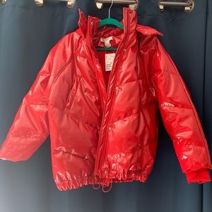NWT! H&M Red Puffer Jacket